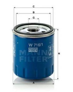 Olejový filtr MANN W716/1