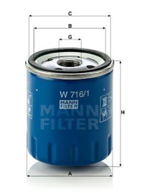 Olejový filtr MANN W716/1 Mann-Filter