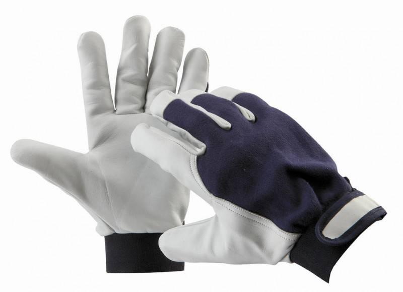 Pracovní rukavice PELICAN blue - vel. 9 kombinované ČERVA
