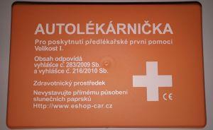 Autolékárnička nová - plastová krabička